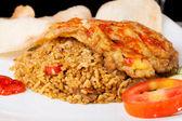 Picante frito arroz nasi goreng indonesia — Foto de Stock