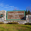 Welocme To Tahquamenon Falls — Stock Photo