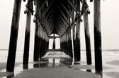 Cross Under The Boardwalk — Stock Photo
