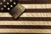 Bible And Flag — Stock Photo