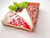 Cheesecake Sampler — Stockfoto