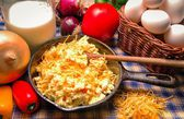 Western Style Scrambled Eggs — Stock Photo