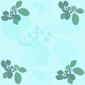 黒い果実の枝のベクトル パターン — ストックベクタ