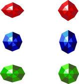 Vector gems — Stock Vector