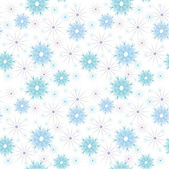 Vector seamless christmas pattern from snowflakes — Vetorial Stock