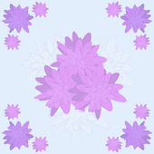 Vector floral pattern in lilac and purple shades in the form of a pencil sketch — 图库矢量图片