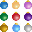 Stock Vector: Vector set of Christmas balls