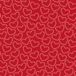 Vector seamless pattern of hearts — Stock Vector