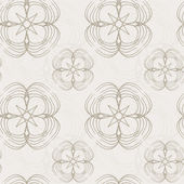 Vector abstract seamless pattern on a beige background — Stock Vector