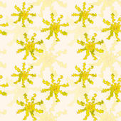 Vector abstract seamless pattern in shades of yellow — Stock Vector