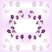вектор украшение веток с цветами — Cтоковый вектор