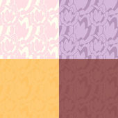 Vector set of abstract seamless patterns in different colors — ストックベクタ