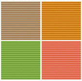 Vector set of seamless textures in warm colors — Stock Vector