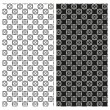Set of abstract seamless black and white patterns. Vector eps 10. — Stock Vector #46652401