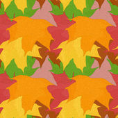 Bright seamless pattern of varicolored maple leaves. Vector eps10. — Stock Vector