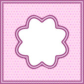 Photo frame in pink. Vector eps 10. — Stock Vector