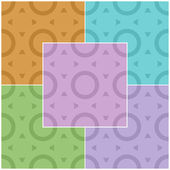 Set of abstract seamless patterns with rings in different colors. Vector eps 10. — Stock Vector
