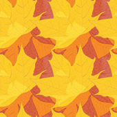 Bright autumn seamless pattern of maple leaves. Vector eps10. — Stock Vector