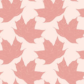 Autumn seamless pattern of red maple leaves. Vector eps10. — Stock Vector