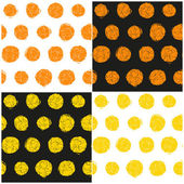 Vector set of abstract seamless patterns of circles with cracks — Stock Vector