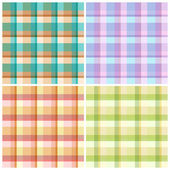Set of repeating patterns in cell. Vector eps 10. — Stock Vector