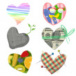 Vector illustrations of different hearts — Stock Vector