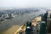 Shanghai Oriental Pearl TV Tower to see the Huangpu River — Stock Photo