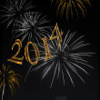 Fireworks Happy New Year 2014 — Stock Photo #37777159