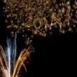 Stock Photo: Happy New Year 2014 fireworks
