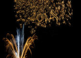 Happy New Year 2014 fireworks — Stock Photo