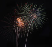 Fireworks for New Years or for Independence Day 4th of July and other celebrations — Stock Photo