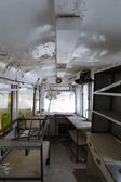 Old street railway wagon — Stock Photo