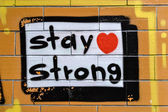 Graffiti mantente fuerte — Foto de Stock