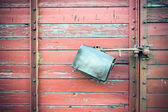 Leather pocket Compartment — Stock Photo