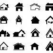 Houses set icon vector — Stock Vector #38370503