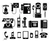 Phone set icon — Stock Vector