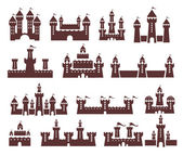 Castle vector set — Stock Vector