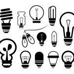 Bulb icon set — Stock Vector #40004827