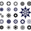 Gear wheels vector set 2. — Stock Vector