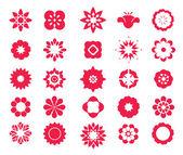 Flower icon set 2. — Stock Vector