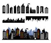 Vector city buildings — Stock Vector