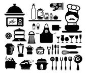 Kitchen tool collection vector — Stock Vector