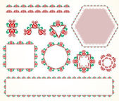 Decorative vintage frame  set 5 — Stock Vector