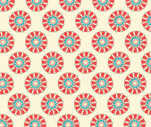 Seamless pattern   Simple flower background — Stock Vector