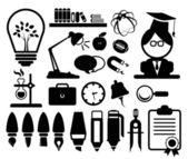 Eğitim set simgeleri — Stok Vektör