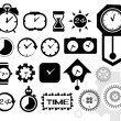 Time, clock icons set, vector — Stock Vector #47303137