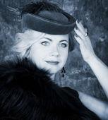 Beauty Fashion Woman Portrait. Vintage Style. — Stock Photo