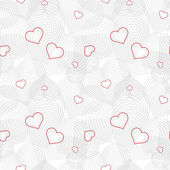 Seamless pattern with hearts on white background — Stock Vector