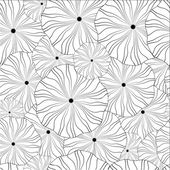 seamless pattern monochrome. abstract floral circless — Stock Vector