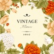 Vintage card with flowers — Stock Vector